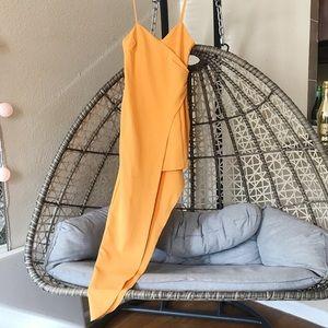 Peace+love long side hem dress - Orange/Yellow